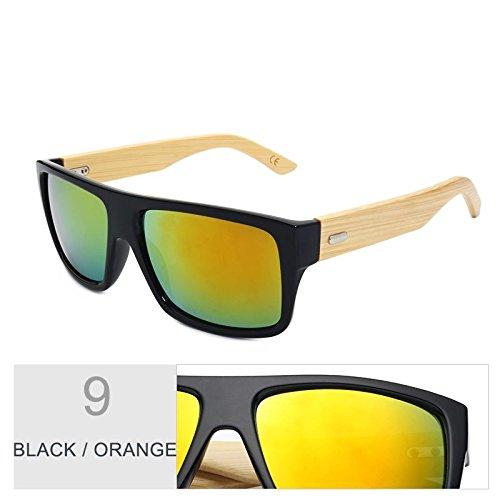 Gafas Sol Mujeres Hombre De Leopard Uv400 De Gafas De Brown Black TIANLIANG04 De Era Mujer Deporte Orange Madera Bambú Sol D De Unisex De Gafas Gafas wxqyPCYB1I