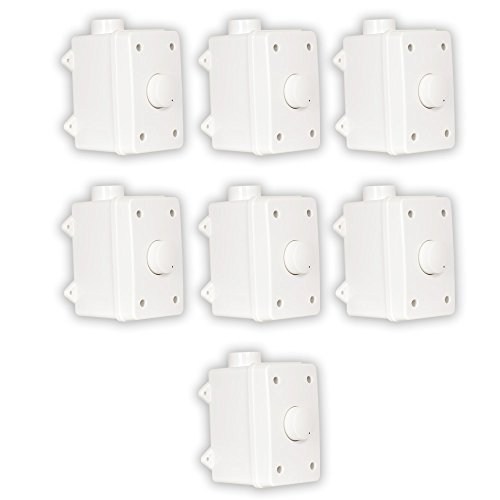 Theater Solutions OVCDW Outdoor Volume Controls White Weatherproof Dial 7 Control Set by Theater Solutions