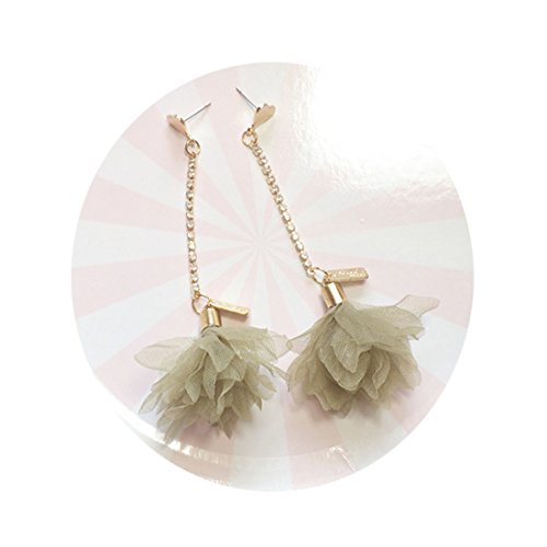 Tidoo Jewelry Korean Style Tassel Fabrics Earrings for Girls Partysu Earrings Jewelry (1# - Korean Fabric