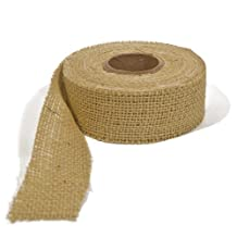 Burlap Ribbon - Natural, 3 Inch X 10 Yards