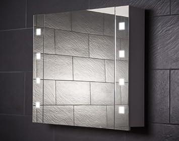 Galdem Cube80 Spiegelschrank Holz 80 X 70 X 15 Cm Weiss