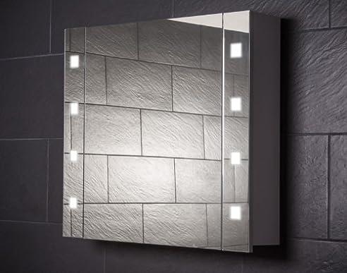 Galdem CUBE80 Spiegelschrank, holz, 80 x 70 x 15 cm, weiß: Amazon ... | {Spiegelschrank holz weiß 56}