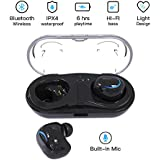 iVoice Wireless Earbuds, Bluetooth True Wireless Headphones V4.2+ EDR Mic Earpieces 15H Playtime 3D Stereo Sound Hands Free Call In Ear Sweatproof Sport Earphones Noise Cancelling Headset w/Charging