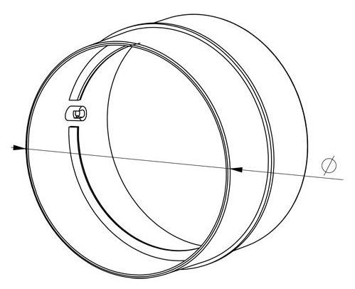 Verbinder L/üftungsrohr ABS Rundrohr /Ø 150 Abluft-Rohr Awenta 150 mm PVC