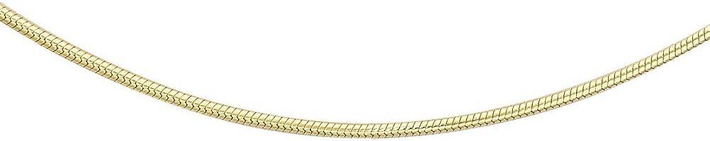 Carissima Gold Collar unisex con oro amarillo de 18K, sin gema