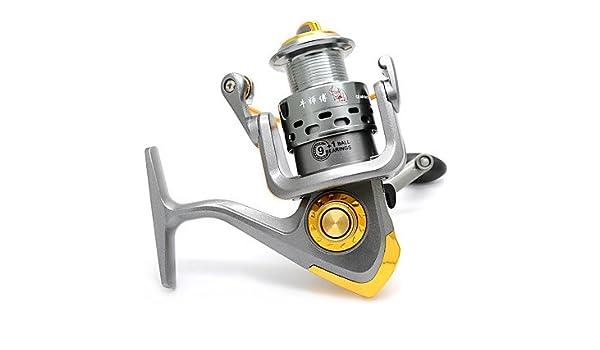 Carrete de TY Pesca Pesca Spinning 5.1:1 10 Rodamientos de Bolas ...
