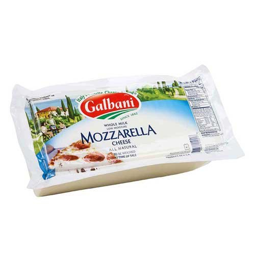 Galbani Professionale Premium Whole Milk Low Moisture Mozzarella Rw, 5 Pound -- 8 per case.