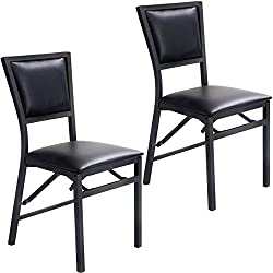 MasterPanel - Set of 2 Metal Folding Chair Dining Chairs Home Restaurant Furniture Portable #TP3236