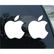 Apple White Mac Logo Decals