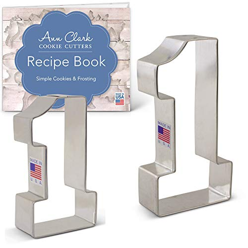 Number One / #1 Cookie Cutter Set with Recipe Book - 2 piece - 3.4