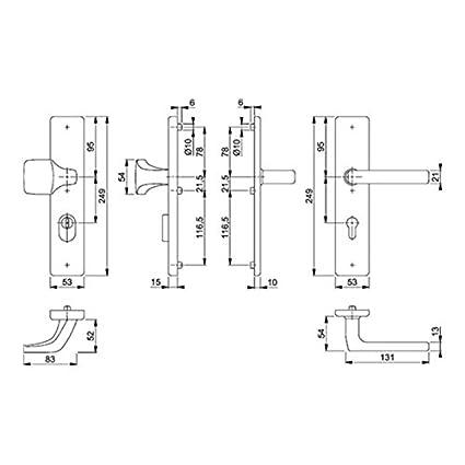 Hoppe Schutzgarnitur Dallas E61G//2221//2210//1643Z VA F69 92mm 67-72mm
