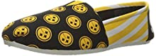 NFL Pittsburgh Steelers Women's Canvas Stripe Shoes, Small (5-6), Black