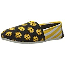 NFL Pittsburgh Steelers Women's Canvas Stripe Shoes, Large (9-10), Black