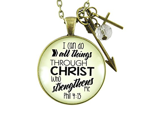 I Can Do All Things Bible Verse Faith Phil 4 13 Necklace 1.20