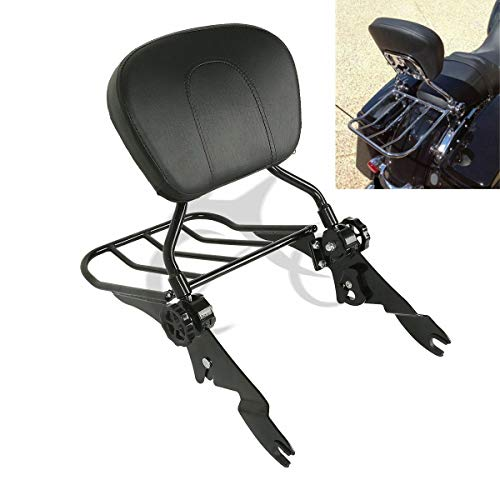 XFMT Backrest Sissy Bar Luggage Rack Compatible with Harley Davidson 2009-2019 Road King, Road Glide, Street Glide, Electra Glide, Ultra Classic,CVO Road Glide Ultra Custom,CVO Street Glide