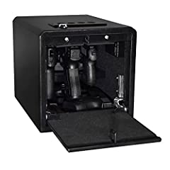 With a completely revolutionary design, the Stealth Tactical Handgun Hanger Safe allows you to have your choice of three handguns at the ready and an additional two handguns in the bottom storage for back-up. You can arm a family of 5 in seco...