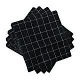 uxcell 4 Pack Cotton Dish Towels 24'' x 16'', Machine Washable Highly Absorbent Kitchen Dishcloths, Napkins and Tea Towels Black