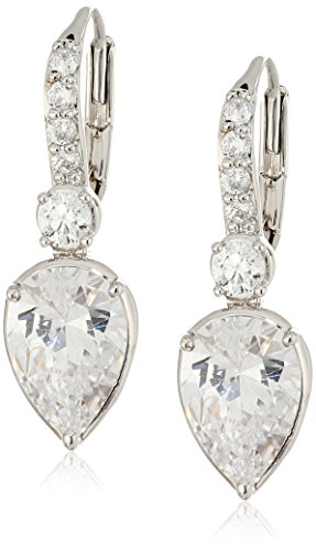 nicole-miller-pear-drop-leverback-rhodium-drop-earrings