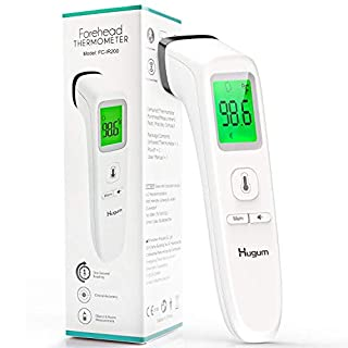 Forehead Thermometer Non-Contact Infrared Thermometer for Baby Kids and Adults Accurate Instant Readings Forehead Thermometer with LCD Display