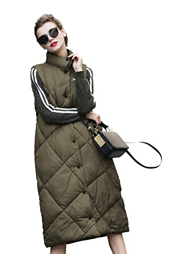 Verde Mujer 2017 Invierno you Largo Vest u Puffer q0UgwgHv