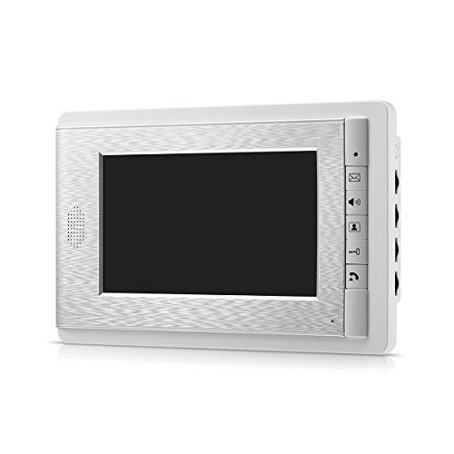 (AMOCAM 7 Inch Color LCD Screen 2-Way Hands Free intercom Video Door Phone Doorbell Monitor Wired,Support Monitoring, Unlock, Dual Way Door Intercom,New)