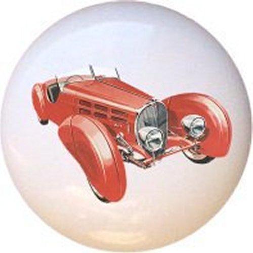 1938 Bugatti Type 57SC Classic Car Decorative Glossy Ceramic Drawer Knob