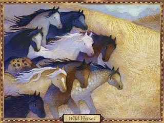- (24x18) Wild Horses by Linda Wingerter quality poster print