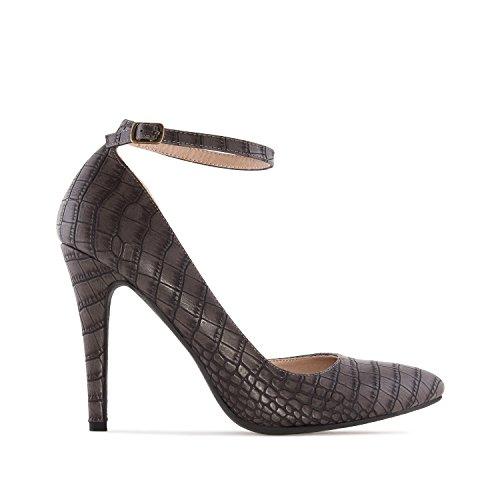 2 8 Snake 35 10 Print 0 UK 32 Ankle amp;Large in Leather Machado to EU EU to Faux UK Stilettos AM5200 to 5 Sizes Andres 5 Grey Snake Print to Tie Petite 42 45 5 SqxYTFwqB