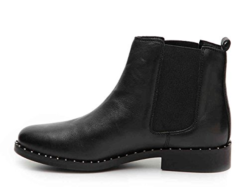 Chelsea Boots Pull Size Steve Indya Black Womens 5 Leather 5 On Ankle M Madden qyFtR