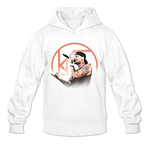 NIHAO Kane Brown Ain't No Stopping Us Now 100% Cotton Male Hoodie White M (Kane Brown Ain T No Stopping Us Now)
