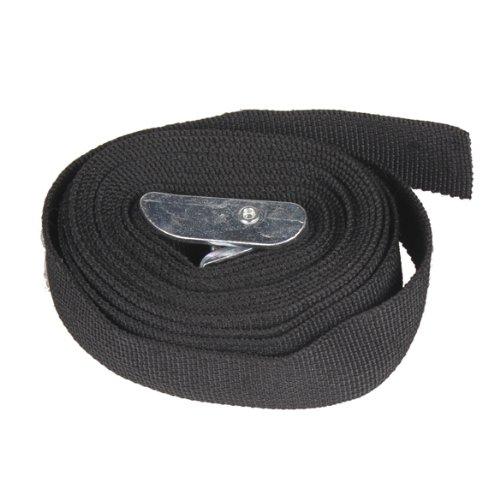 Tenflyer 3M Black Nylon Cargo Tie down Luggage Lash Belt Strap with Metal Cam Buckle