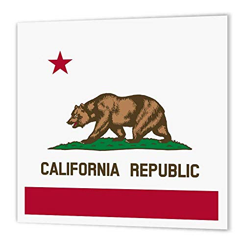 (3dRose ht_158295_3 Flag of California Republic-Us American State-United States-Iron on Heat Transfer Paper for White Material, 10 by 10-Inch)