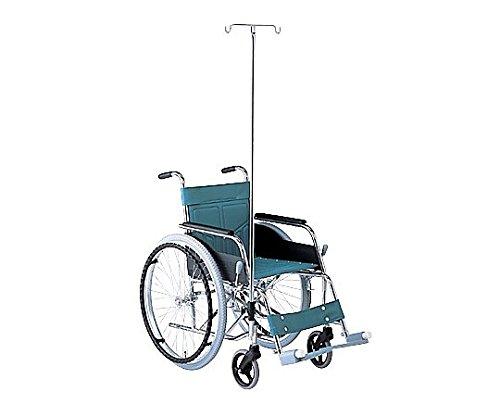 松永製作所0-5953-02車椅子(自走式/スチール製/ガードル棒付き) B07BD1Y9RN