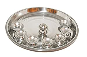 Puja Thali (Stainless Steel)