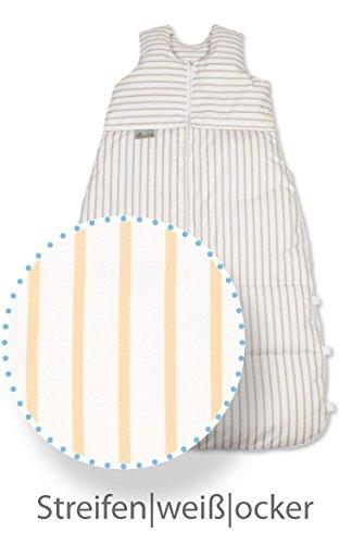 Saco de dormir (Plumón de aro Artländer, saco de dormir de invierno 110 - 130 cm, diseño: Ocre rayas: Amazon.es: Bebé