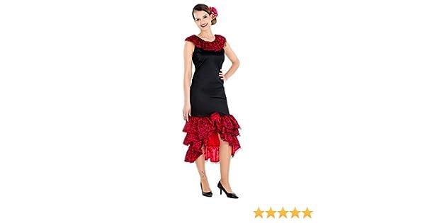 TecTake dressforfun Disfraz de Flamenca Bailarina de Tango para ...