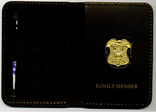 Mini Badge Pin (New Jersey PBA Officer's Family Member ID Card Wallet gold plated pin included)