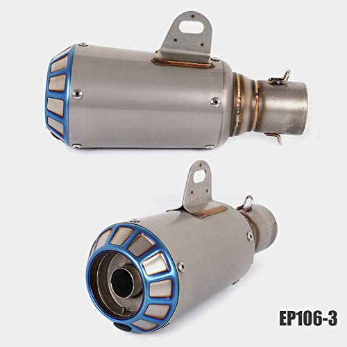 Ocamo 51mm Universal Motorcycle Exhaust Pipe Stainless Steel Exhaust Mufflers Carbon Fiber Exhaust Pipe EP106-3: