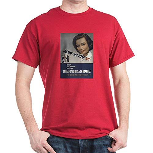 CafePress She May Look. Cardinal T Shirt 100% Cotton T-Shirt