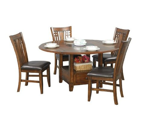 Winners Only Zahara Square Dining Table with Granite Lazy Susan (Square Dining Tables compare prices)