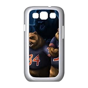 Samsung Galaxy s3 9300 White Cell Phone Case Chicago Bears NFL Custom Phone Case Cover For Women NLYSJHA0506