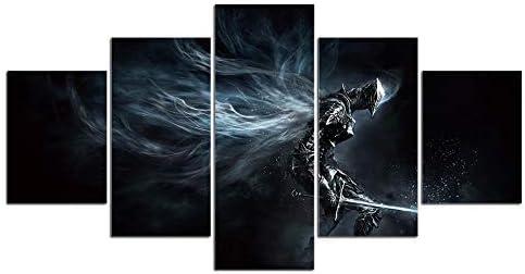 Dark Souls impresión lienzo decoración 5 piezas: Amazon.es: Hogar