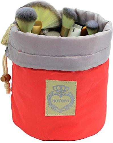 HOYOFO Travel Restroom Barrel multi Cosmetic Bag Accessories Makeup Bags,Pink