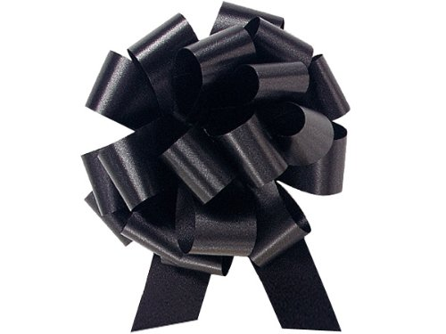 A1BakerySupplies® Gift Wrap Christmas Wedding Gift Wrap Pull Bows Pull String Bows 10 Pack (Black, 4 Inch)