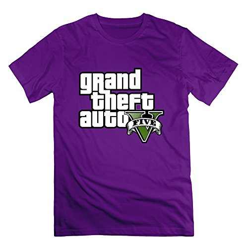 ZhiXiong Men Cotton Grand Theft Auto V Tees