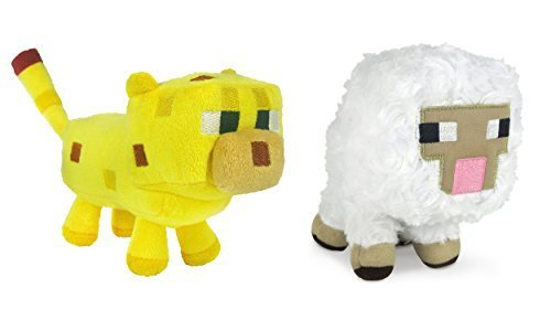 Minecraft Sheep and Ocelot Plush Set, 6-8 -