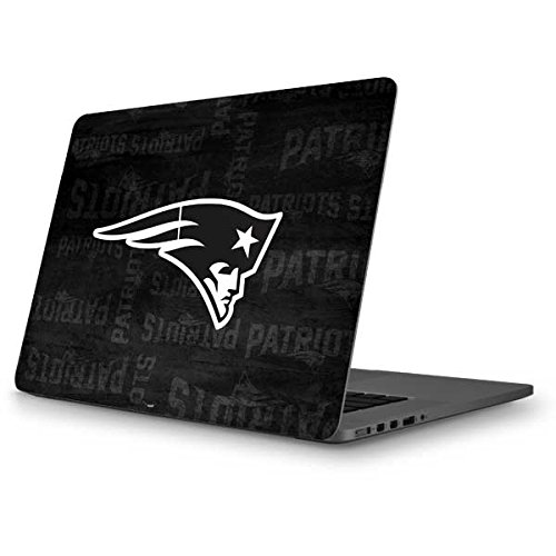 Skinit NFL New England Patriots MacBook Pro 13 (2013-15 Retina Display) Skin - New England Patriots Black & White Design - Ultra Thin, Lightweight Vinyl Decal Protection by Skinit