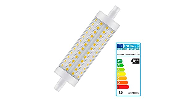 Osram LED Superstar Special Line, mit R7S-Sockel, Dimmbar, Ersetzt 125 Watt, 118 mm Länge, Klar, Warmweiß - 2700 Kelvin, 1er-Pack - - Amazon.com