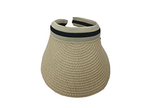 de Sombrero 3 Vacaciones viaje hombre sol Acvip o mujer de Sombrero de visera Paja para 7Px6rU7q