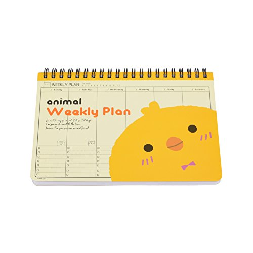 Twone Animal Weekly Planner - Organizers for Kids - 7.5